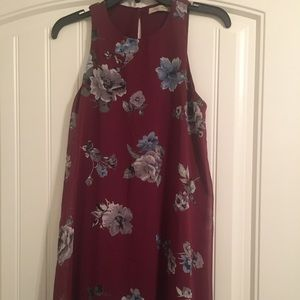 Final Touch Maroon Floral Dress